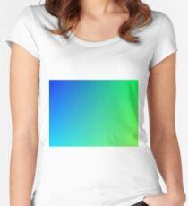 Green Alien Gradient  Women's Fitted Scoop T-Shirt