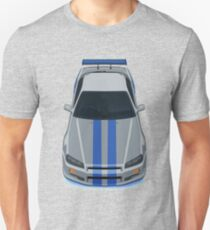The Gray and Blue Unisex T-Shirt