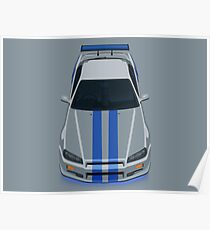 Fast and Furious Nissan Skyline GTR R34 Poster