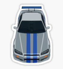 Fast and Furious Nissan Skyline GTR R34 Sticker