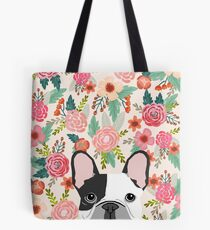French Bulldog florals cute spring summer dog gifts pet portraits for frenchie owners Tote Bag