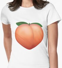 Peach Emoji Womens Fitted T-Shirt