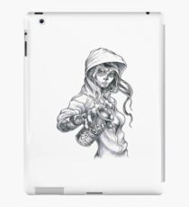 Mardi Gras Graffiti Girl iPad Case/Skin
