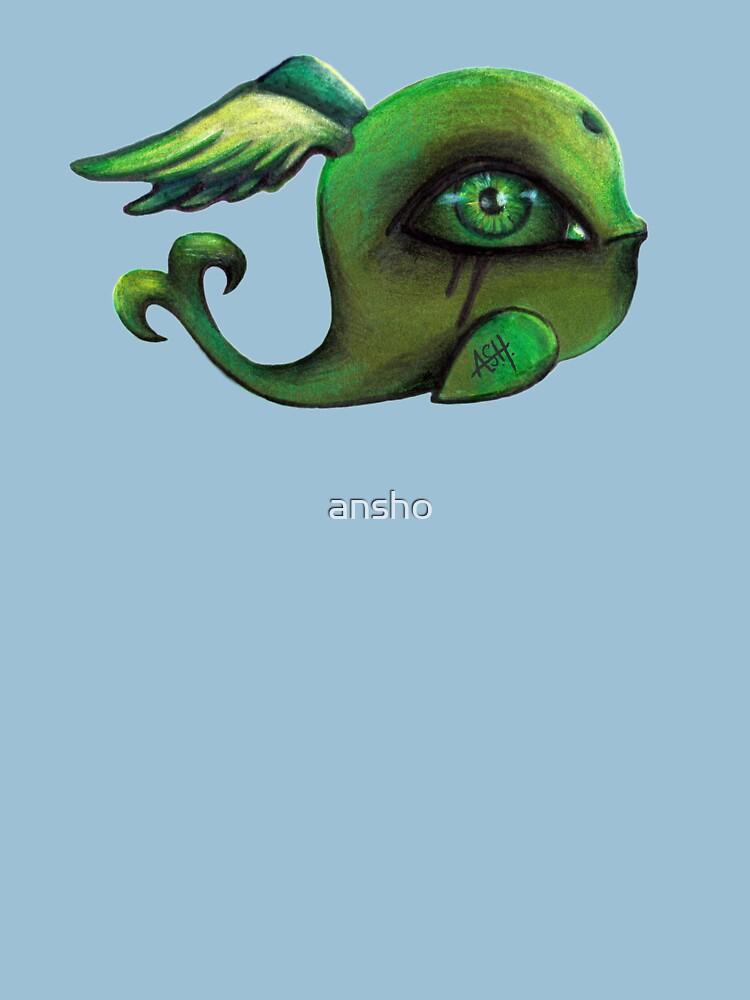 green winged whale II by ansho