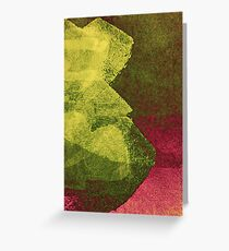 Cool, unique modern abstract painting art design Greeting Card