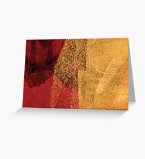 Cool, unique modern red yellow abstract painting art design Greeting Card
