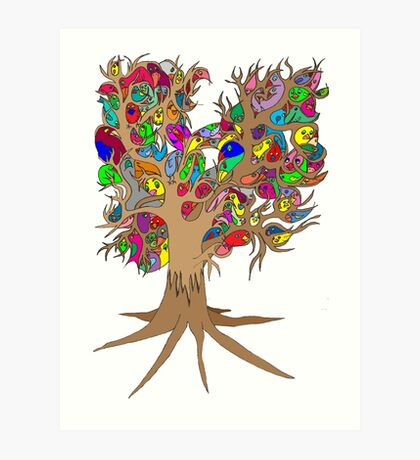 Birds of a feather stick together Art Print