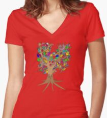 Birds of a feather stick together Women's Fitted V-Neck T-Shirt