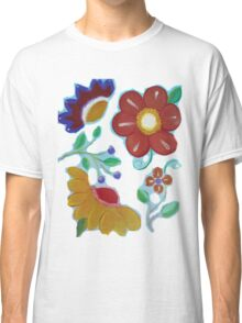 Flowers, flowers acrylic painting Classic T-Shirt