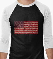 American flag Men's Baseball ¾ T-Shirt