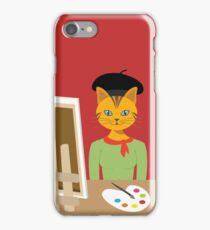 Salvador Kitty cat kitten paint artist Graphic tee vector cat design iPhone Case/Skin