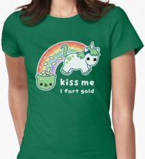 St. Patrick's Day Unicorn Womens Fitted T-Shirt