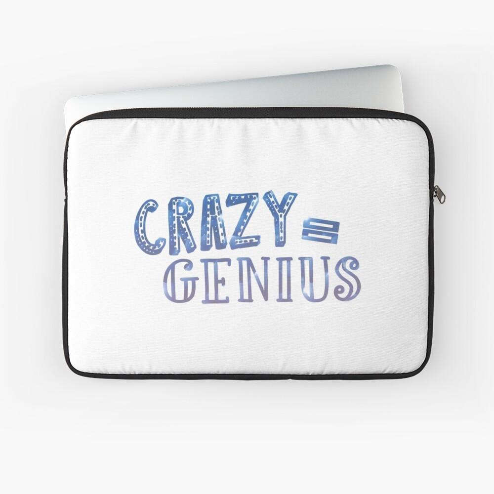 Crazy entspricht Genie Laptoptasche