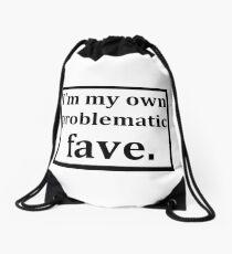Problematic fave Drawstring Bag
