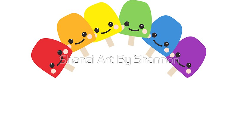 Quot Cute Rainbow Quot Stickers By Shannon Paskaruk Redbubble