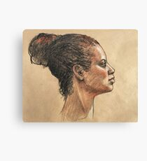 Pastel Portrait of Julia Canvas Print