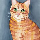 Ginger Tabby Watercolor  by Ryan Conners