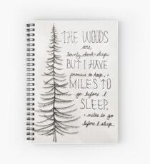 Die Wälder sind schön Spiralblock