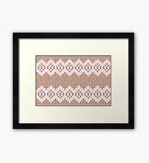 Brown and Pink Knit  Framed Print