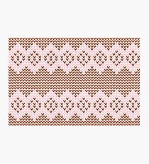 Brown and Pink Knit  Photographic Print