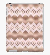 Brown and Pink Knit  iPad Case/Skin