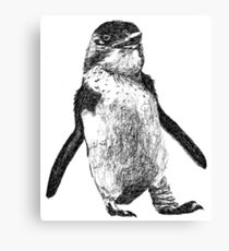 Ink Penguin Canvas Print