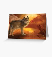 Wolf Mountain Greeting Card