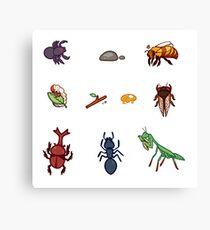 Bug stickers Canvas Print