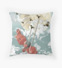 Moon Bees Throw Pillow