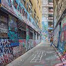 Hosier Lane abstract 3 by Pauline Tims
