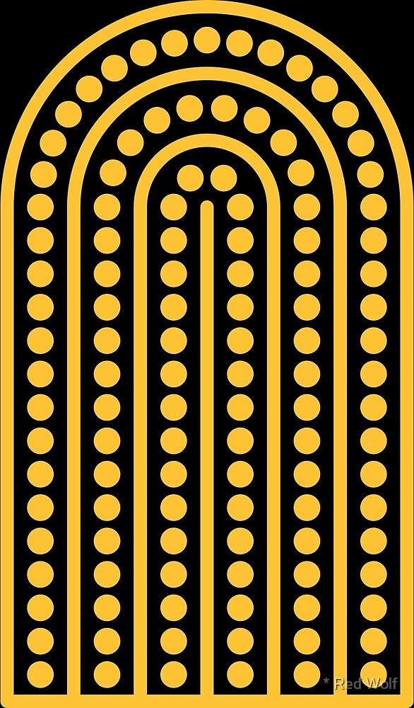 Copy of Geometric Pattern: Arch Dot: Yellow/Black by * Red Wolf