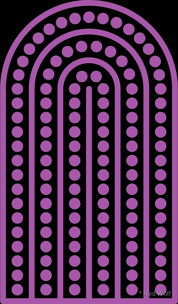 Copy of Geometric Pattern: Arch Dot: Purple/Black by * Red Wolf