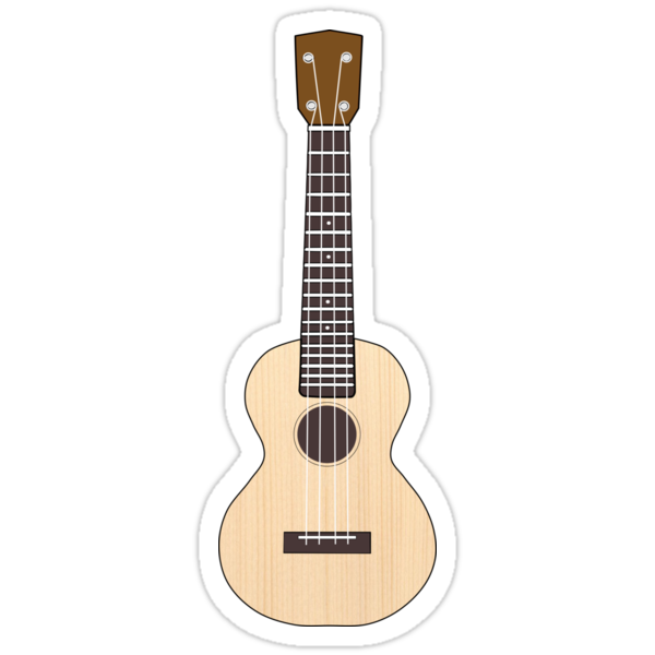 Quot Ukulele Quot Stickers By Caretta Redbubble