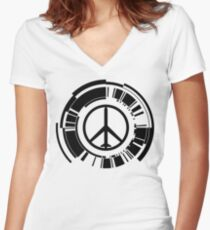 MGS - Peace walker - Black Women's Fitted V-Neck T-Shirt