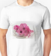 A Cup Of Pink Lavatera Flowers Unisex T-Shirt