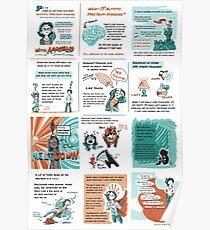 Asperger-Comic-Plakat Poster