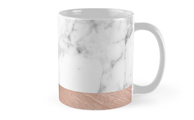 Quot Rose Gold Marble Quot Mugs By Girlsbiteback Redbubble