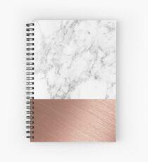 Cuaderno de espiral Rose Gold Marble