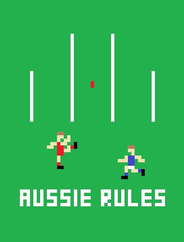 Aussie Rules Pixel by scribbledeath