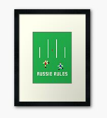 Aussie Rules Pixel Framed Print