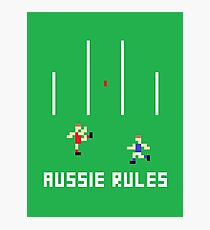 Aussie Rules Pixel Photographic Print