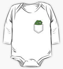 Pepe Frog Pocket One Piece - Long Sleeve