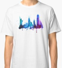 Watercolor New York Skyline Silhouette Classic T-Shirt