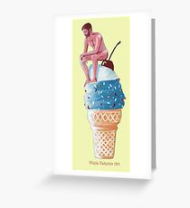 Flavor Man Ice Cream Greeting Card