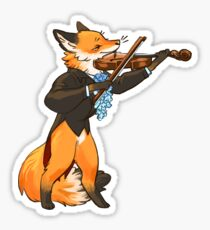Bluebell violinist Sticker