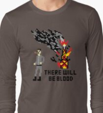 There Will Be Blood Pixel Long Sleeve T-Shirt