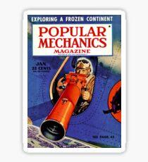 Popular Mechanics magazine poster Sticker