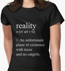 Adulte bien ajusté. (Darkmode) T-shirt col V femme
