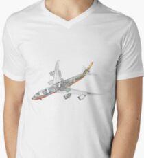 Boeing 747-800 intercontinental V-Neck T-Shirt