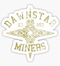 Dawnstar Miners - Skyrim - Football Jersey Sticker